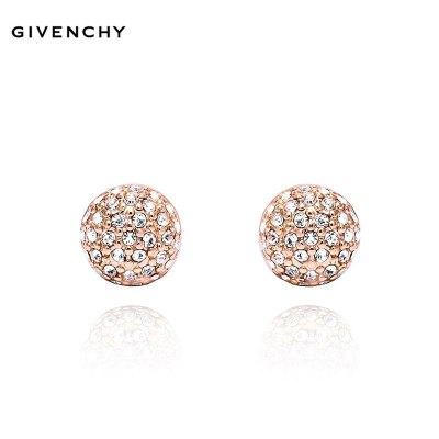 Givenchy/紀梵希 簡約密鑲玫瑰金色半球型女士耳釘 60243347-9DH