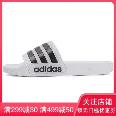 阿迪達斯Adidas男鞋2018新款NEO運動游泳拖鞋休閑舒適輕便一字拖戶外耐磨涼鞋AQ1702 C
