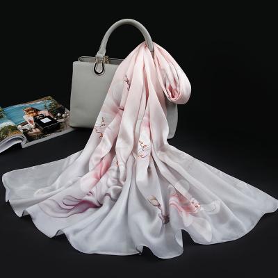 上海故事春夏季真絲絲巾女長款百搭薄款杭州絲綢桑蠶絲圍巾旗袍披肩