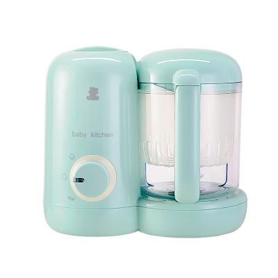 小白熊(XIAOBAIXIONG)多功能母嬰幼兒童輔食料理機嬰兒蒸煮攪拌一體機 500ml以下 綠色 HL-0973