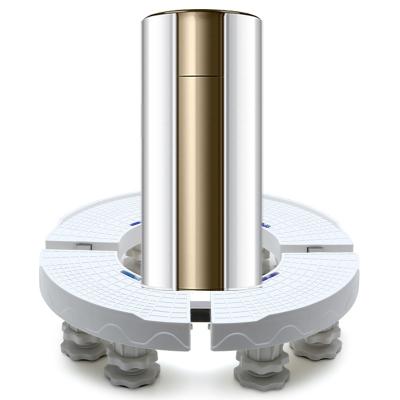 KT19H2圓形空調柜機底座托架圓柱形移動增高花盆魚缸支架墊高腳架萬向輪