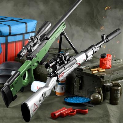 AWM兒童玩具槍98K狙擊搶絕地吃雞全套裝備求生和平男孩精英智扣塑料水彈手槍AWM(80CM)