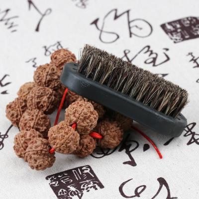 闪电客文玩工具套装棕毛刷软硬金刚菩提子橄榄核桃油保养清理野猪鬃刷子