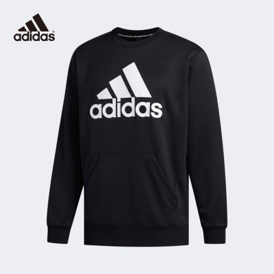 阿迪达斯Adidas卫衣男2020春季圆领运动套头衫新款长袖T恤FM5341