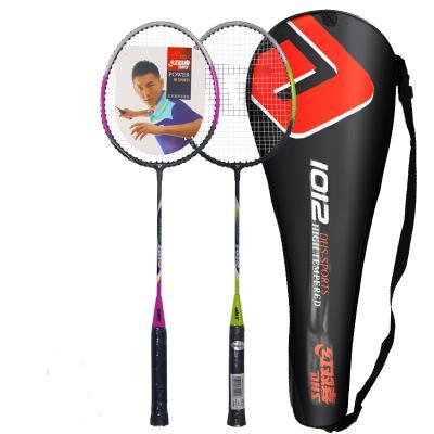 紅雙喜DHS羽毛球拍業余初級1012控球型訓練娛樂款情侶對拍 已穿線
