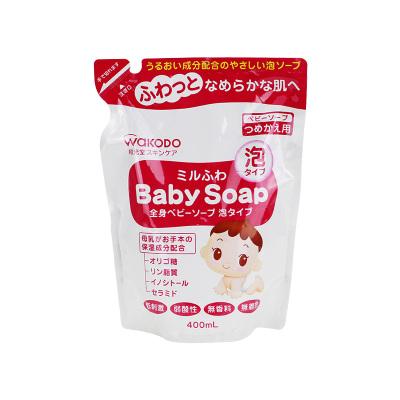 Wakodo 和光堂嬰幼兒泡沫沐浴露沐浴液替換裝400ml