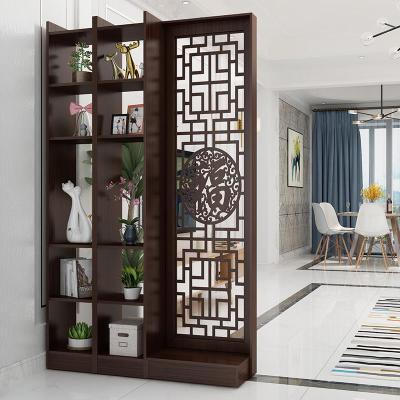 新中式玄關柜隔斷柜閃電客屏風鏤空客廳裝飾酒柜簡約現代小戶型