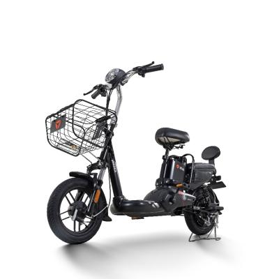 雅迪电动车 小王子锂电版轻驰 新款电动自行车 48V锂电黑色