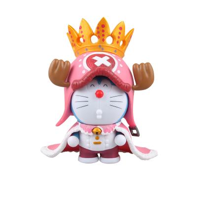 哆啦A梦手办 王冠叮当猫COS乔巴 皇冠 动漫摆件公仔模型