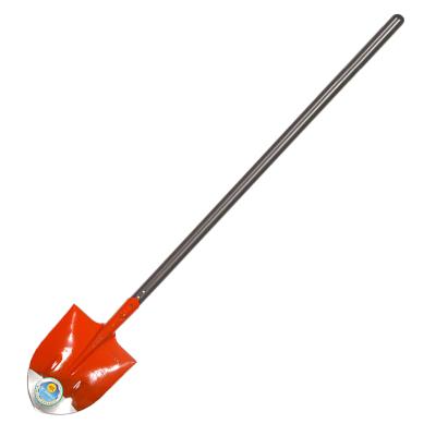 根牌 一级椿木柄1.2米 方型 铁锨铁铲铁锹 锰钢淬火 园林农用防汛抗洪 桔红1号