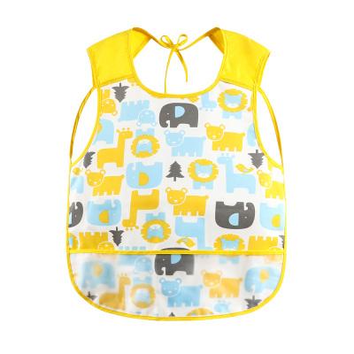 Curbblan卡伴儿童防水围裙透气反穿衣儿童罩衣男宝女宝吃饭衣无袖围裙适合0-4岁宝宝