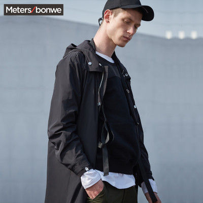【3件1.5折价:89.4】美特斯邦威外套男士春秋装新款中长款轻薄户外防风衣外套潮