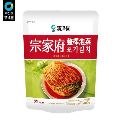 清凈園宗家府韓國整顆泡菜400g 韓式小菜袋裝咸菜下飯菜配飯菜小菜