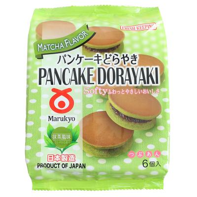 日本進口 丸京菓子庵 紅豆夾心銅鑼燒蛋糕310g(350g)和風抹茶味