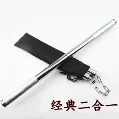 二合一雙節棍非不銹鋼電鍍雙截棍可接兩用防身實戰練習組合二節棍