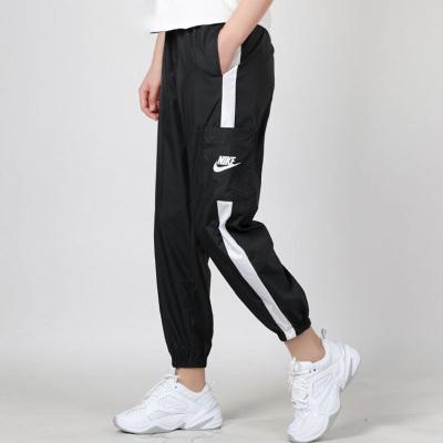 Nike耐克長褲女2020夏季新款梭織束口小腳褲休閑運動褲CJ7347-010