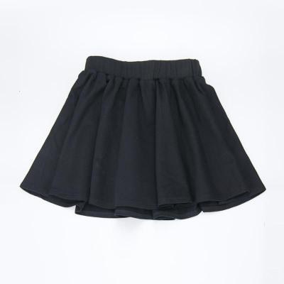儿童运动短裙幼儿园黑色半身裙大童纯色针织裙学生藏青校服裙