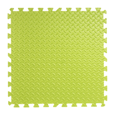 明德树叶纹泡沫拼接地垫儿童拼图爬行垫宝宝卧室客厅防滑垫防摔大号加厚60*601.2cm(绿色1片)
