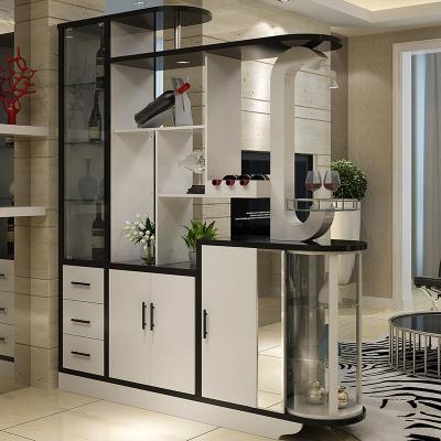 本蘭 屏風隔斷玄關柜客廳門廳柜簡約現代鞋柜酒柜隔斷柜間廳柜雙面1.8米長