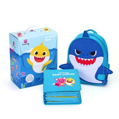 【明星推薦】碰碰狐PinkFong香港蒙特梭利兒童早教立體書myfirstbook聯名款鯊魚版布書啟蒙益智玩具0-6歲