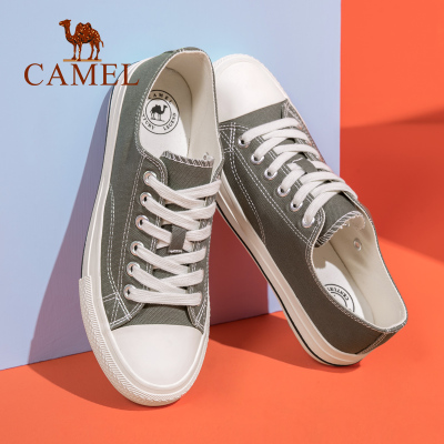 CAMEL駱駝男鞋 2020新款低幫帆布鞋韓版潮復古時尚休閑百搭帆布滑板鞋男