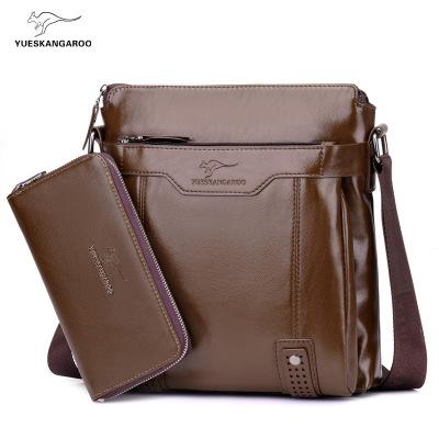 躍森袋鼠(YUESKANGAROO)2020款單肩包男士斜挎包時尚韓版休閑背包