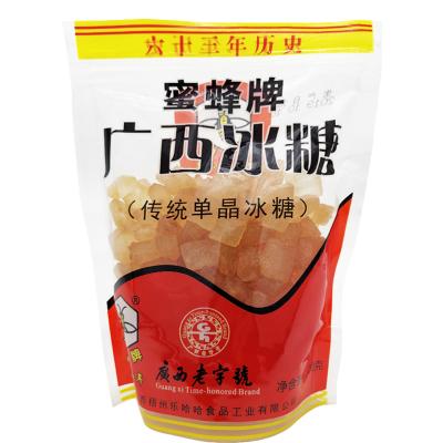【廣西老字號】蜜蜂牌廣西冰糖500g*2黃單晶冰糖塊傳統制作老冰糖
