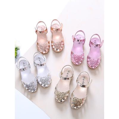 女童凉鞋夏季新款公主鞋中大童包头凉鞋小孩鞋儿童凉鞋沙滩鞋防滑