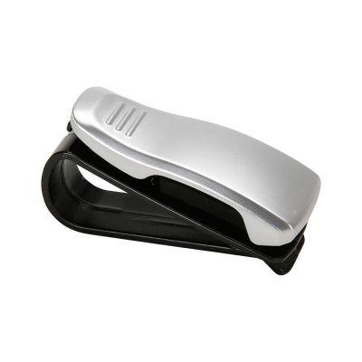 汽车眼镜夹 车载眼镜盒 片票据夹遮阳板眼睛夹车载眼镜架夹汽车用品银色