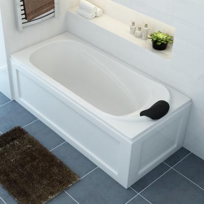 艾吉諾 亞克力浴缸家用成人浴盆浴池小戶型衛生間按摩龍頭雙裙邊右裙左群靠墻<1.5M1.4M