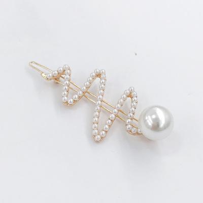 日系个性少女心珍珠发夹侧边夹BB夹一字夹碎刘海夹韩国头饰发饰品