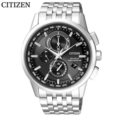 國行 西鐵城(CITIZEN)手表 光動能多局電波萬年歷多功能運動男表AT8110-61E
