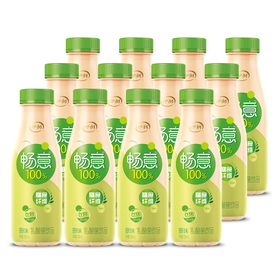 伊利 畅意100%乳酸菌饮品原味330ml*12瓶
