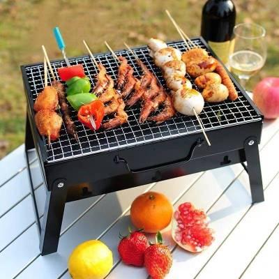 魔鐵 燒烤爐戶外迷你野外木炭家用燒烤架可折疊便捷小型烤肉架工具
