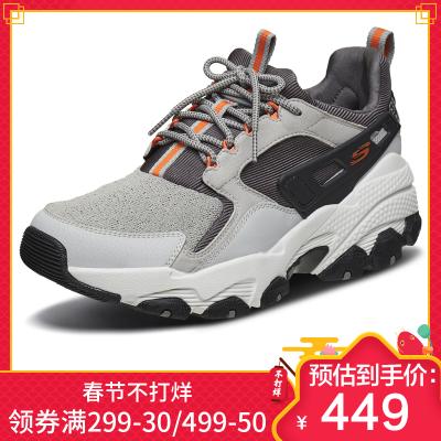 Skechers斯凯奇男鞋秋季运动鞋厚底增高老爹鞋 人造革时尚复古户外休闲鞋 51737