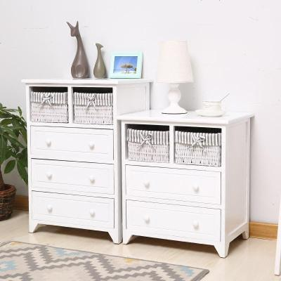 地中海臥室小床頭柜客廳組合收納柜美式收納柜斗柜田園簡約整理柜