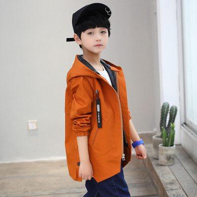 抹炫(MOXUAN)童裝2019新款男童春秋裝韓版風衣外套7七8八11十6-12歲男孩潮衣服