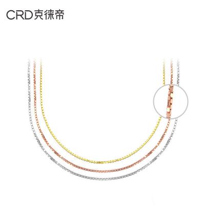 CRD/克徕帝K金项链男女18K金盒仔链可搭配吊坠彩金项链多色可以选