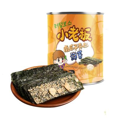 小老板休闲零食小吃南瓜子夹心海苔海味即食海苔40g/罐