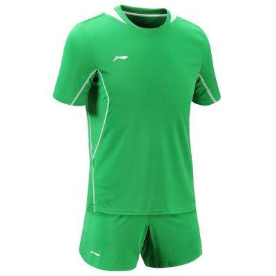 李寧足球服套裝男隊服足球衣定制短袖印號足球訓練服
