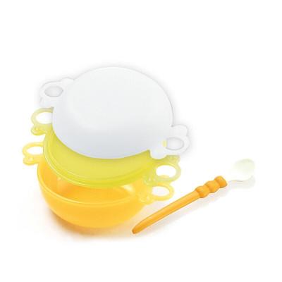 小白熊寶寶研磨碗勺組嬰童輔食研磨碗寶寶輔食碗09062