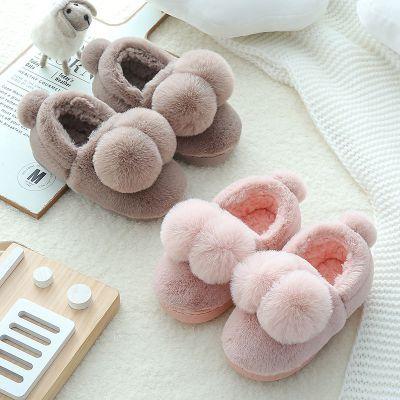 兒童棉鞋男女童防滑保暖寶寶室內居家鞋2-9歲小孩包跟棉拖鞋冬季 莎丞