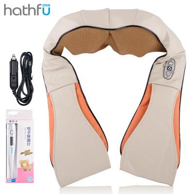 【廠家直銷、品質保障】哈斯福 3D揉捏按摩披肩 頸椎按摩器材 腰椎揉捏按摩儀 肩椎磁療保健理療 不限人群