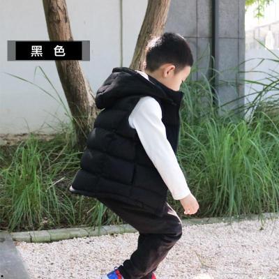 喜悦家童装秋冬新款儿童羽绒马甲可拆卸带帽男童女童保暖加厚外套