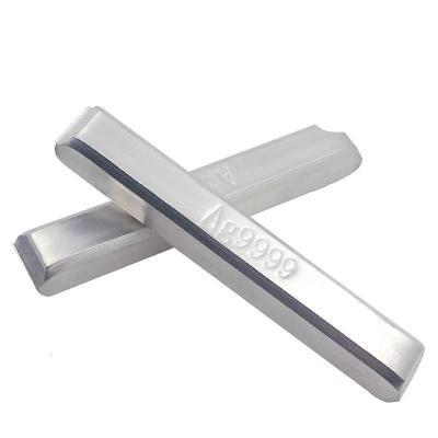 纯银银料银条原料9999足银银块银砖银锭碎银子白银粒雪花银