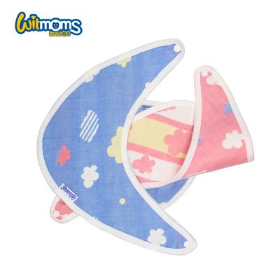 睿智媽媽,witmoms當代嬰童孕嬰童毛巾三角巾4條裝口水巾防奶吐舒適透氣快速吸收