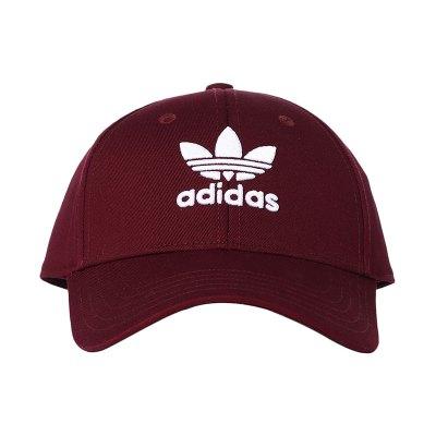 adidas阿迪达斯三叶草男女运动休闲帽子DV0175 DV0175酒红色