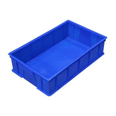 塑料零件盒螺絲工具盒貨架物料收納盒塑料箱周轉盒 9號藍色 195*146*65mm
