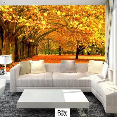 壁紙閃電客電視背景墻紙墻布客廳沙發影視墻壁布貼畫定制自粘 無縫平面真絲布/平米 超大