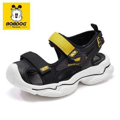 巴布豆BOBDOG HOUSE兒童涼鞋2020新款夏季男童女童休閑透氣防滑小學生沙灘鞋